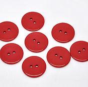 Материалы для творчества ручной работы. Ярмарка Мастеров - ручная работа Пластиковые пуговицы 23 мм красные (20 шт). Handmade.