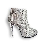 Обувь ручной работы handmade. Livemaster - original item The booties Python MABELINE. Handmade.