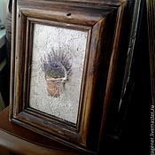 Картины и панно ручной работы. Ярмарка Мастеров - ручная работа Картина в деревянном багете Лаванда. Handmade.