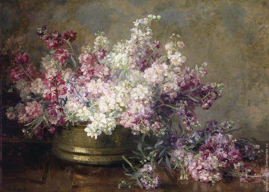 """Картины цветов ручной работы. Ярмарка Мастеров - ручная работа. Купить """"Букет с белыми и розовыми цветами"""" Мари Эгнер. Handmade."""