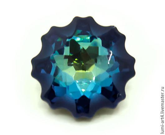 Для украшений ручной работы. Ярмарка Мастеров - ручная работа. Купить Медуза 14 мм Bermuda Blue Кристаллы Сваровски Jelly Fish (арт.4195). Handmade.