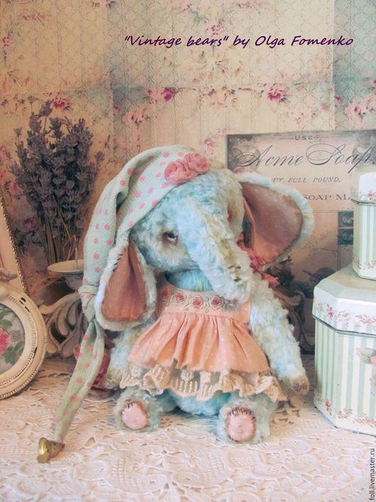 Мишки Тедди ручной работы. Ярмарка Мастеров - ручная работа. Купить Слоняшка Ману. Handmade. Тедди, тедди слоник, розовый
