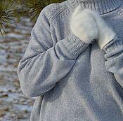 Одежда ручной работы. Ярмарка Мастеров - ручная работа Кашемировый свитер-oversize, светло-серый меланж. Handmade.