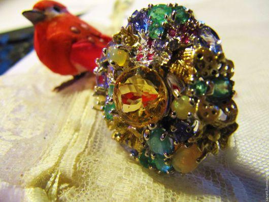 """Реставрация. Ярмарка Мастеров - ручная работа. Купить Авторское, крупное кольцо """"  Княжна"""". Handmade. Комбинированный, винтажные украшения"""