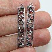 Материалы для творчества handmade. Livemaster - original item Pendants paired Laura - silver 925. Handmade.