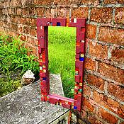 Для дома и интерьера ручной работы. Ярмарка Мастеров - ручная работа Зеркало в бардовой раме. Handmade.