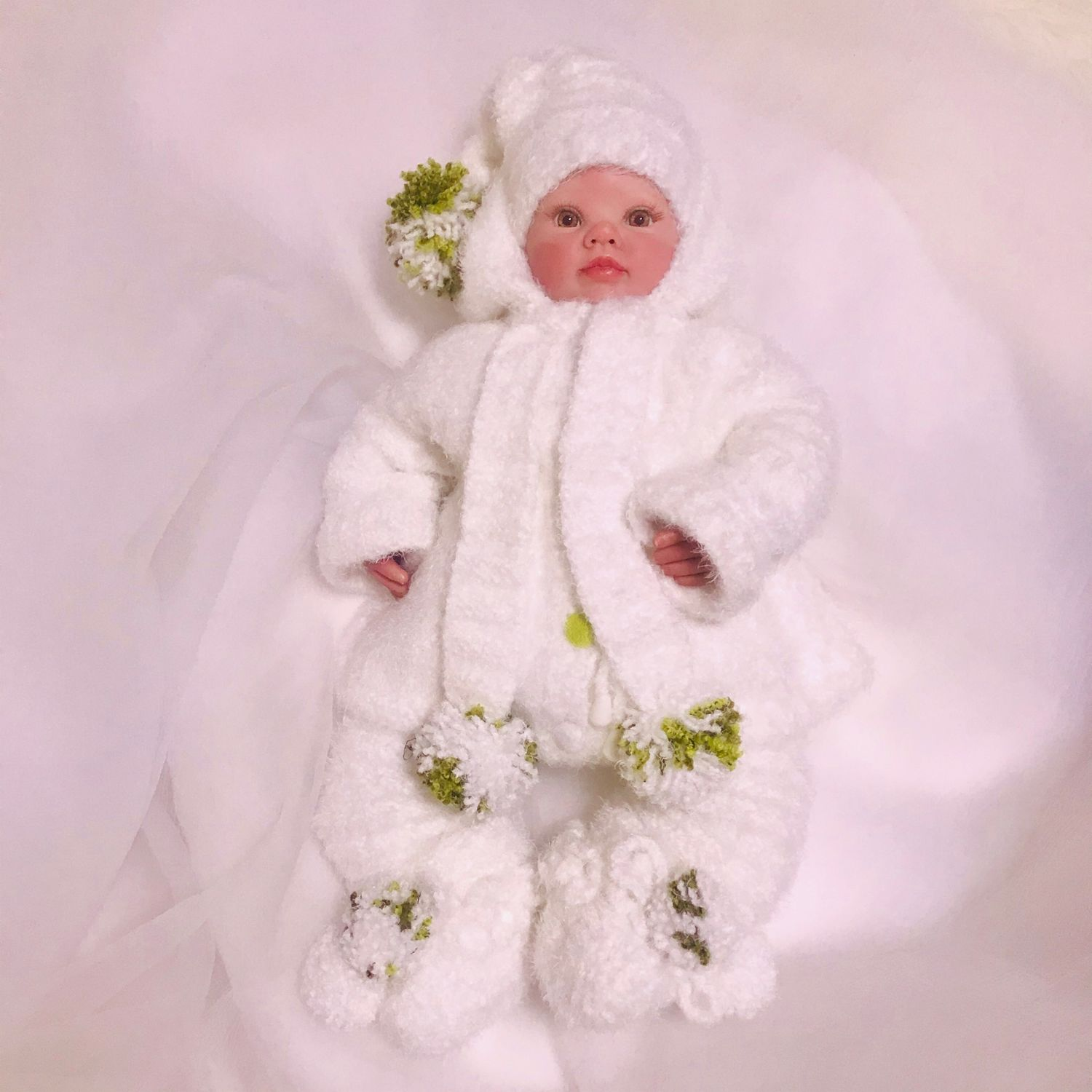Set of clothes for newborns ' snowdrop', Set of clothes for discharge, Dzhubga,  Фото №1