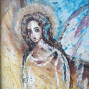 Картины и панно ручной работы. Ярмарка Мастеров - ручная работа Белый ангел.. Handmade.