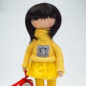 Куклы и игрушки ручной работы. Ярмарка Мастеров - ручная работа Девица в жолтом. Handmade.