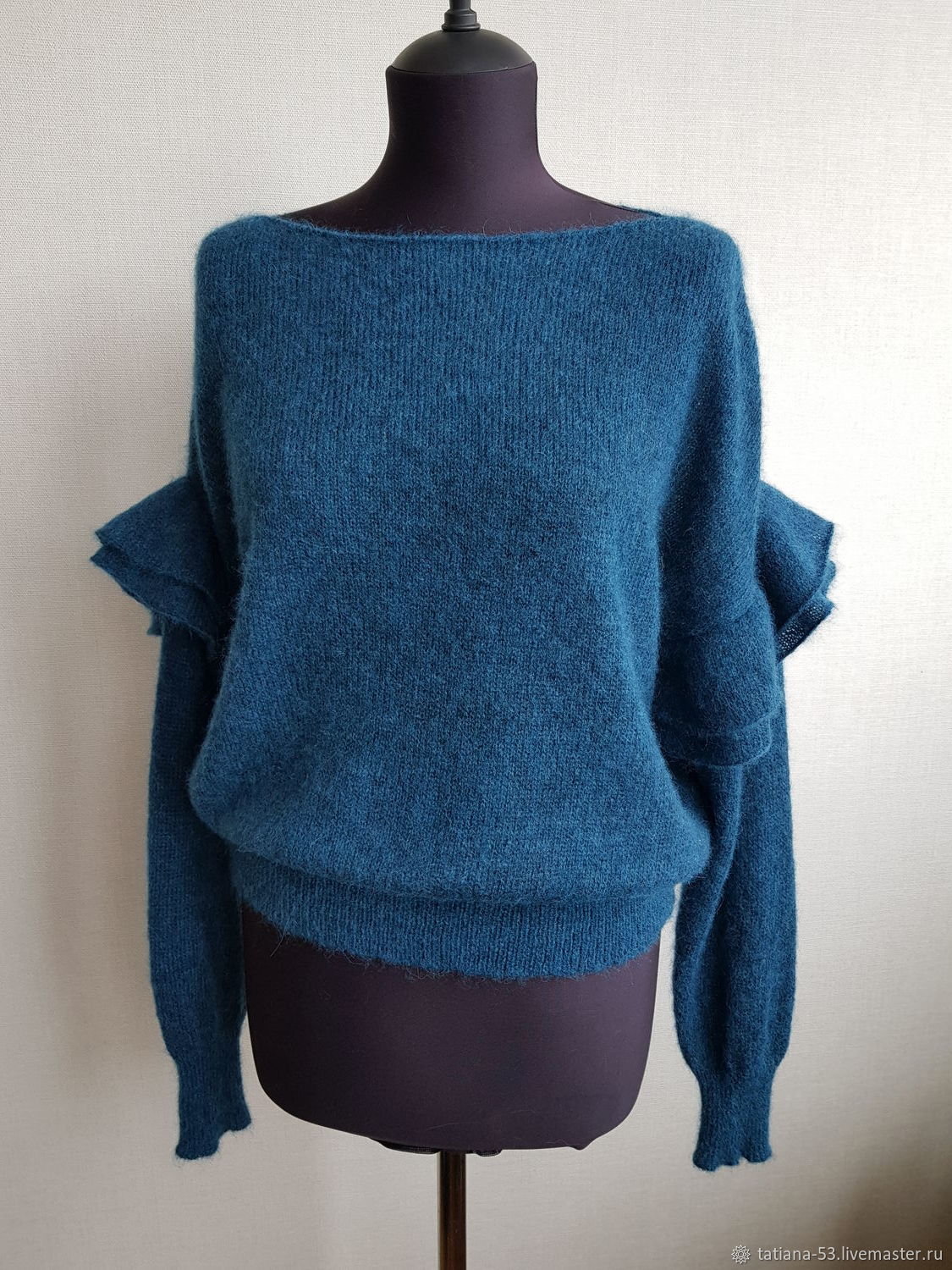 Feminine mohair petrolle blouse with Alpaca, Sweater Jackets, Moscow,  Фото №1