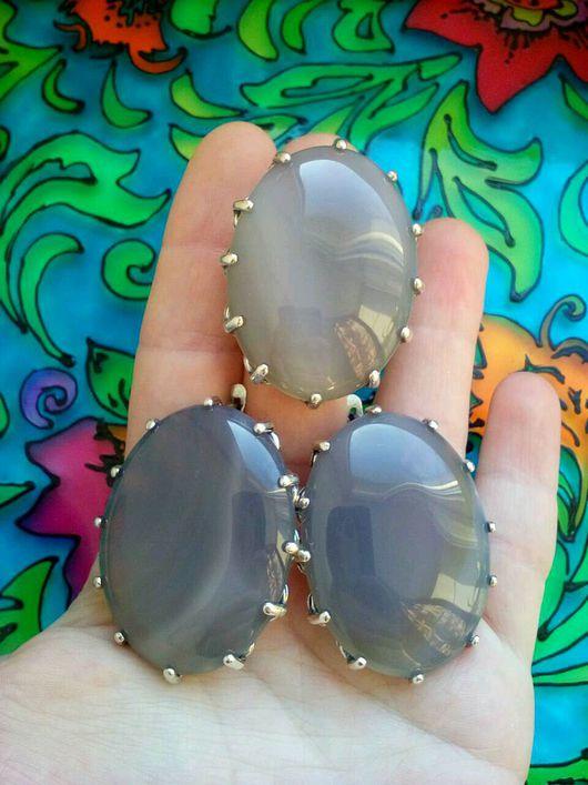 Комплекты украшений ручной работы. Ярмарка Мастеров - ручная работа. Купить 270 Комплект серебрение серьги и кольцо с камнями. Handmade.