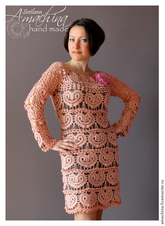 """Платья ручной работы. Ярмарка Мастеров - ручная работа. Купить """"Дела сердечные"""" по мотивам Vanessa Montoro. Handmade. Бледно-розовый"""