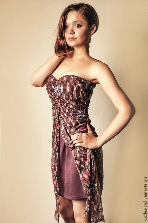 """Платья ручной работы. Ярмарка Мастеров - ручная работа. Купить Платье """"Праздник"""". Handmade. Фуксия, Платье нарядное, гипюр"""