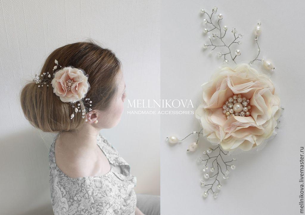 Купить украшения цветы для волос