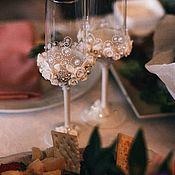 "Бокалы ручной работы. Ярмарка Мастеров - ручная работа Бокалы ""Wedding"". Handmade."