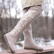 """Обувь ручной работы. Ярмарка Мастеров - ручная работа Ботфорты-валенки """"Розовый кварц"""". Handmade."""