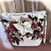 Сумки и аксессуары handmade. Livemaster - original item bag white leather