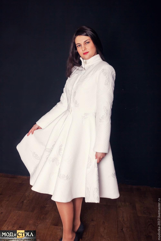 ecf7bcc0b6c Верхняя одежда ручной работы. Ярмарка Мастеров - ручная работа. Купить  Пальто женское белое с ...