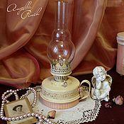 """Для дома и интерьера ручной работы. Ярмарка Мастеров - ручная работа Лампа керосиновая """"Розовый флёр"""". Handmade."""