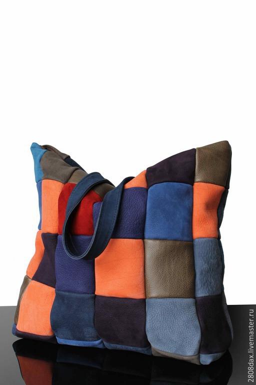 Женские сумки ручной работы. Ярмарка Мастеров - ручная работа. Купить Замшевая сумка, большая сумка, сумка на осень, синяя сумка. Handmade.