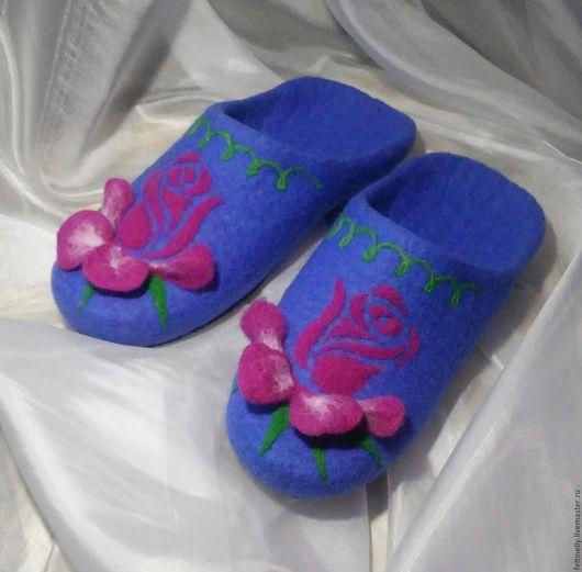 Обувь ручной работы. Ярмарка Мастеров - ручная работа. Купить Rose. Валяные тапочки.. Handmade. Розовый, Тапочки ручной работы