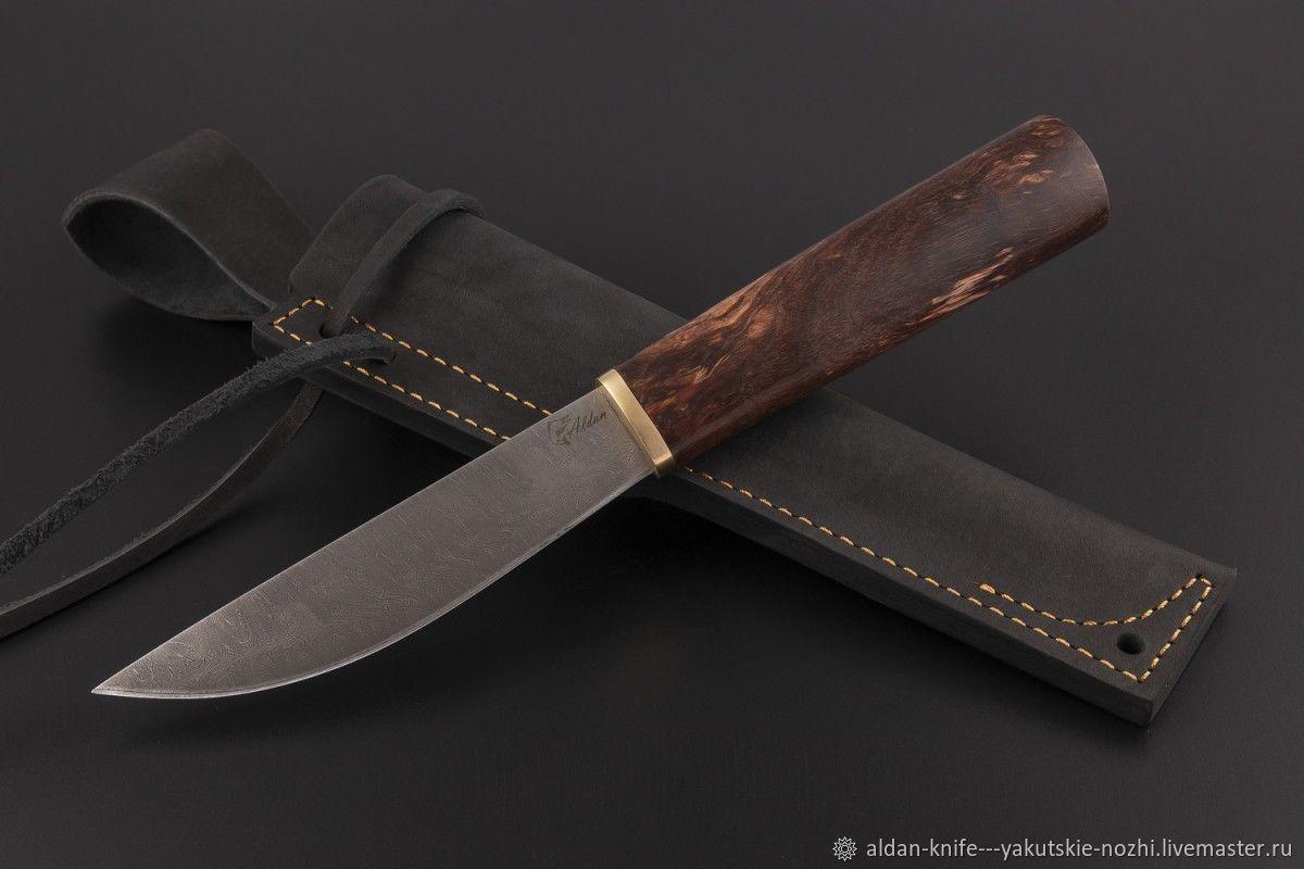 Оружие ручной работы. Ярмарка Мастеров - ручная работа. Купить Нож Якутский средний №19 (дамасская сталь). Handmade. Дамаск
