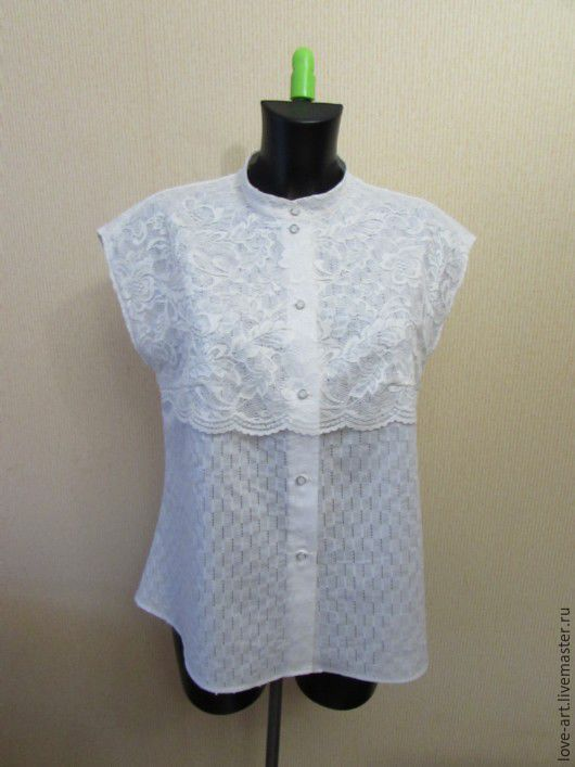 Блузки ручной работы. Ярмарка Мастеров - ручная работа. Купить Блуза18. Handmade. Белый, нарядная блузка, натуральные материалы