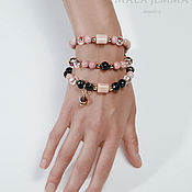 Украшения handmade. Livemaster - original item Triple bracelet-beads, Good morning. Handmade.