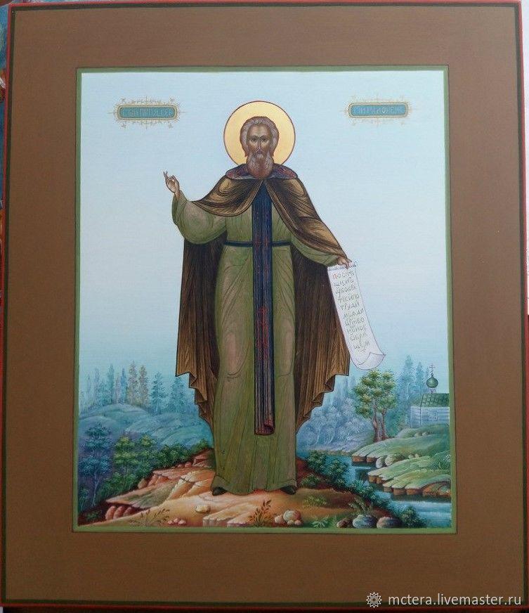 Святой Преподобный Сергий Радонежский, Иконы, Ковров,  Фото №1