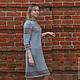 вязаное платье в русском стиле, русский оберег