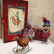 Подарки к праздникам ручной работы. Ярмарка Мастеров - ручная работа Новогодняя коробочка с 3 елочными игрушками. Handmade.