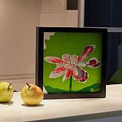 Картины и панно ручной работы. Ярмарка Мастеров - ручная работа Лотос красный. Handmade.