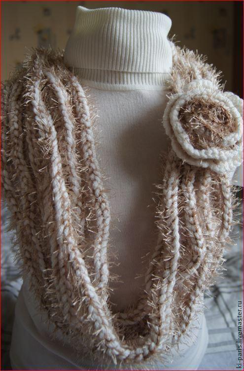 """Вязаный шарф """"Иней"""""""