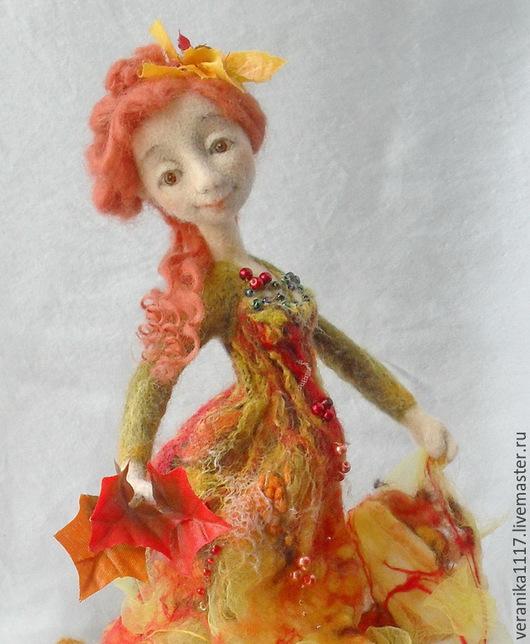 """Коллекционные куклы ручной работы. Ярмарка Мастеров - ручная работа. Купить Войлочная кукла  """"Осенняя..."""". Handmade. Желтый"""