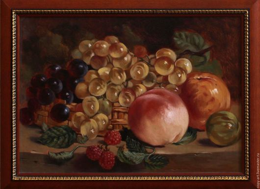 Натюрморт ручной работы. Ярмарка Мастеров - ручная работа. Купить натюрморт с виноградом. Handmade. Картина в подарок, картина для интерьера