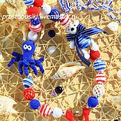 """Одежда ручной работы. Ярмарка Мастеров - ручная работа Слингобусы можжевеловые """" Морячок """". Handmade."""