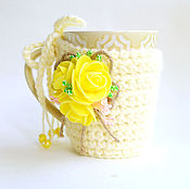 Для дома и интерьера handmade. Livemaster - original item Cover, hot-water bottle, sweater, clothes on a mug (a mug + a cover). Handmade.