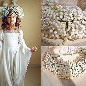 Hair Decoration handmade. Livemaster - original item A flower crown of baby`s breath