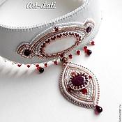Украшения handmade. Livemaster - original item White swan collar. Handmade.
