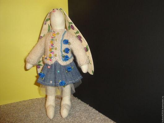 Куклы Тильды ручной работы. Ярмарка Мастеров - ручная работа. Купить зайчиха Буся. Handmade. Зайка девочка, зайка игрушка
