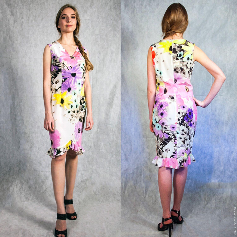 84b919aa37e Платья ручной работы. Ярмарка Мастеров - ручная работа. Купить Платье из  креп шелка в ...