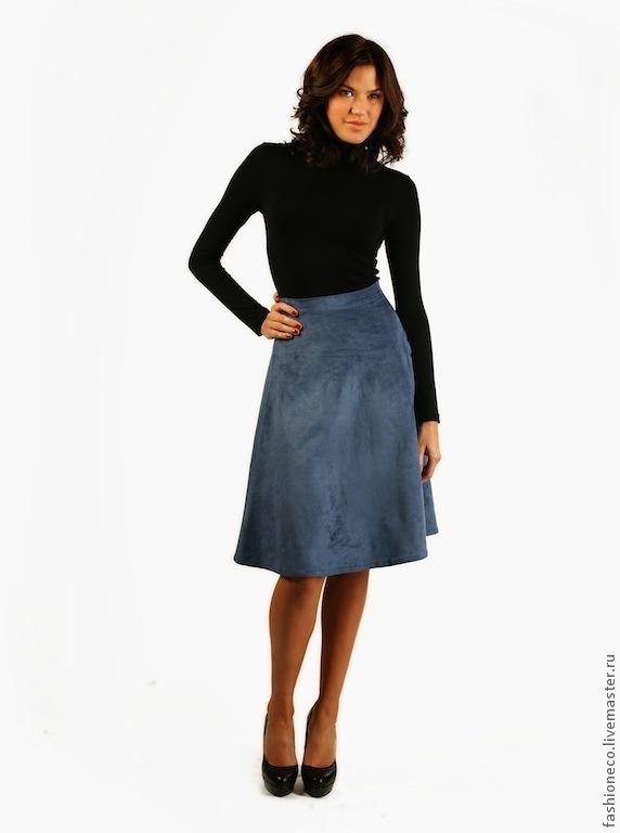 Купить юбку из искусственной замши
