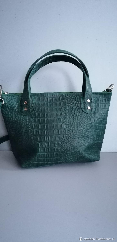 Leather bag. BAG OF GENUINE LEATHER. Classic crocodile from, Classic Bag, Krasnodar,  Фото №1