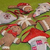 Куклы и игрушки ручной работы. Ярмарка Мастеров - ручная работа Елочные игрушки. Handmade.
