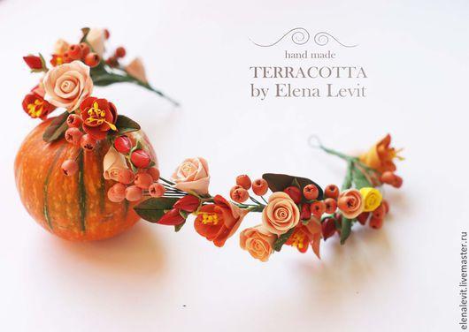 Веночек из полимерной глины. Terracotta by Elena Levit.