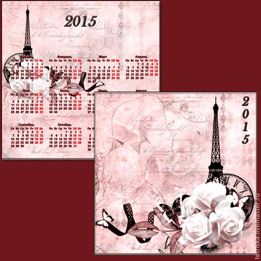 Фото и видео услуги ручной работы. Ярмарка Мастеров - ручная работа. Купить Парижские мотивы. Handmade. Календарь, парижанка, силуэт