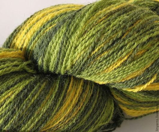 Вязание ручной работы. Ярмарка Мастеров - ручная работа. Купить Кауни пряжа Green-Yellow 8/2. Handmade. Кауни, зеленая