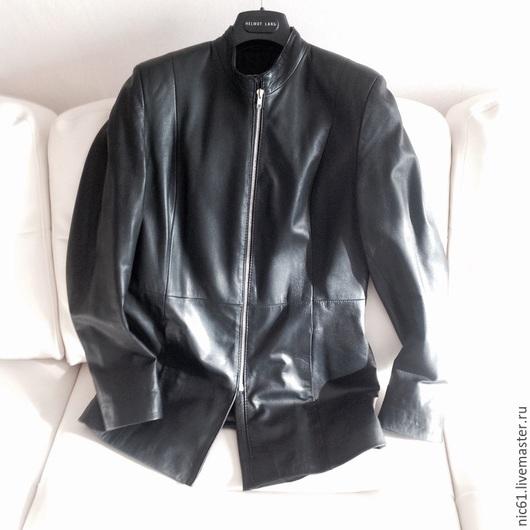 Пиджаки, жакеты ручной работы. Ярмарка Мастеров - ручная работа. Купить Жакет из кожи женский 46 размер. Handmade. Черный