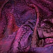 Аксессуары handmade. Livemaster - original item Women`s Scarf Burgundy purple jacquard leopard print. Handmade.