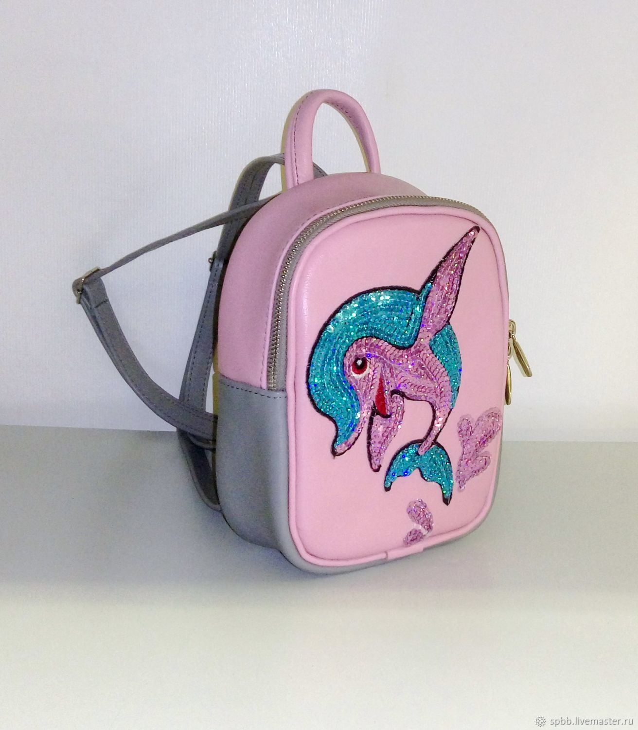 0e5f898f0d Backpacks handmade. Livemaster - handmade. Buy Backpack leather   Dolphin . Backpack ...